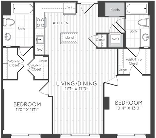 Apartment 0323 floorplan