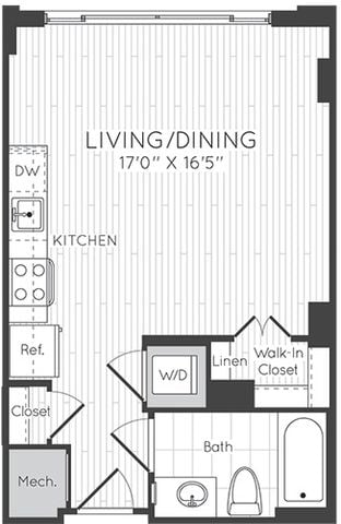 Apartment 0208 floorplan