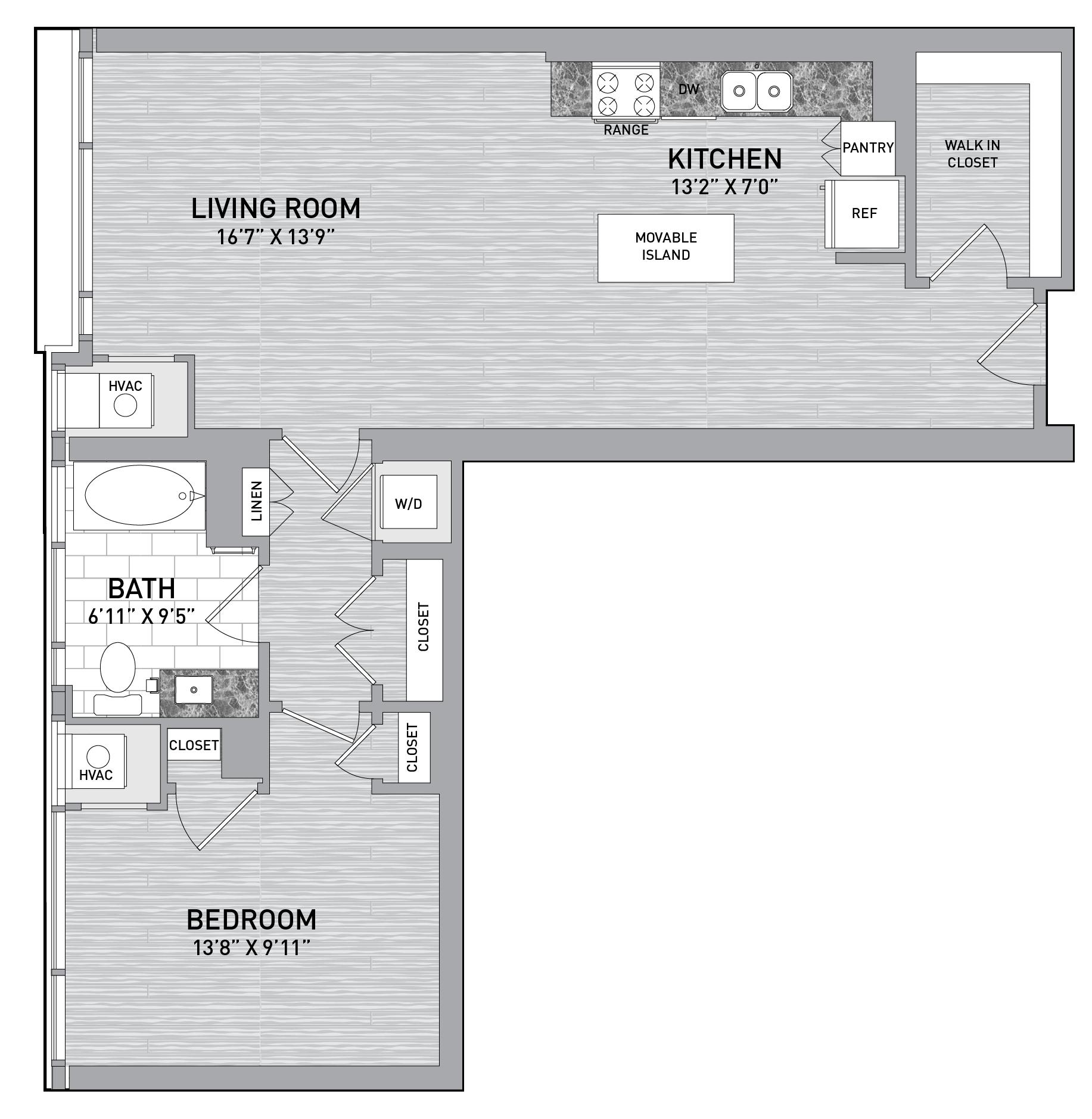 floorplan image of unit id 0732
