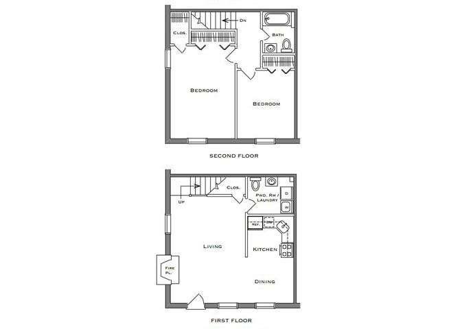 2 Bedroom 1.5 Bathroom Townhouse (Electric)