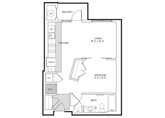 floor plan image of apartment 412