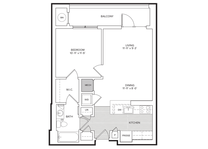 floor plan image of apartment 507