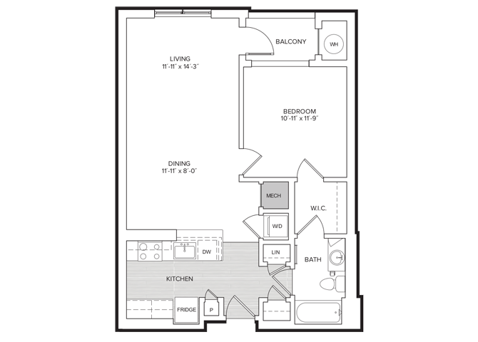 floor plan image of apartment 314