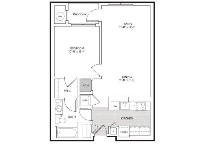 floor plan image of apartment 410