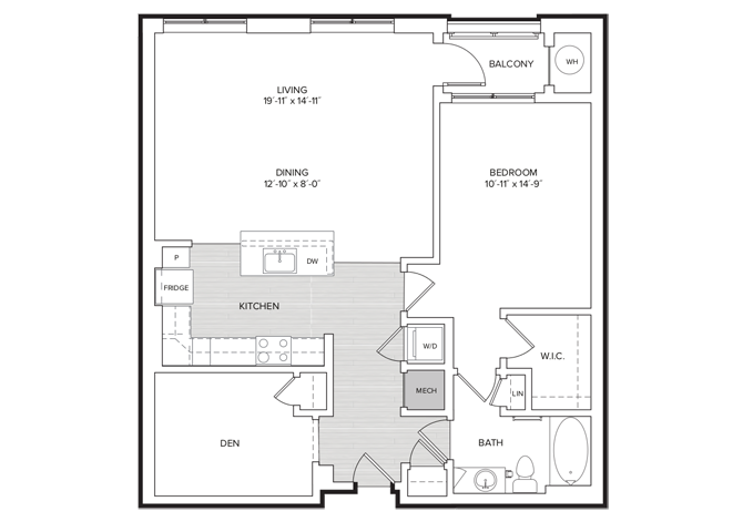 floor plan image of apartment 433