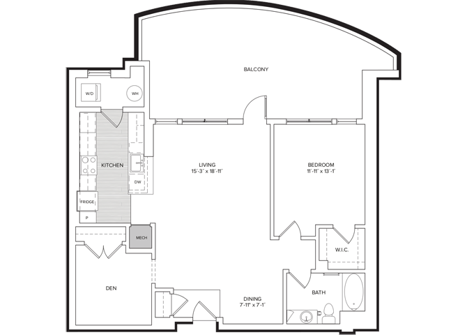 floor plan image of apartment 401
