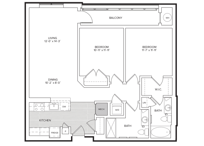 floor plan image of apartment 340