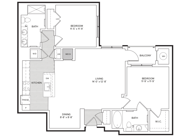floor plan image of apartment 237