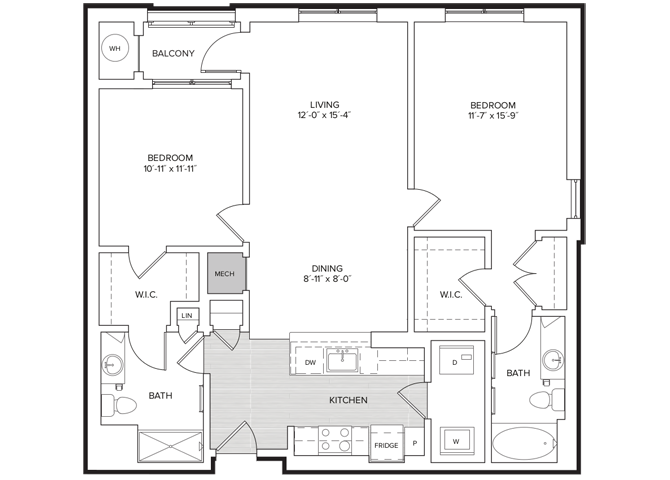 floor plan image of apartment 232