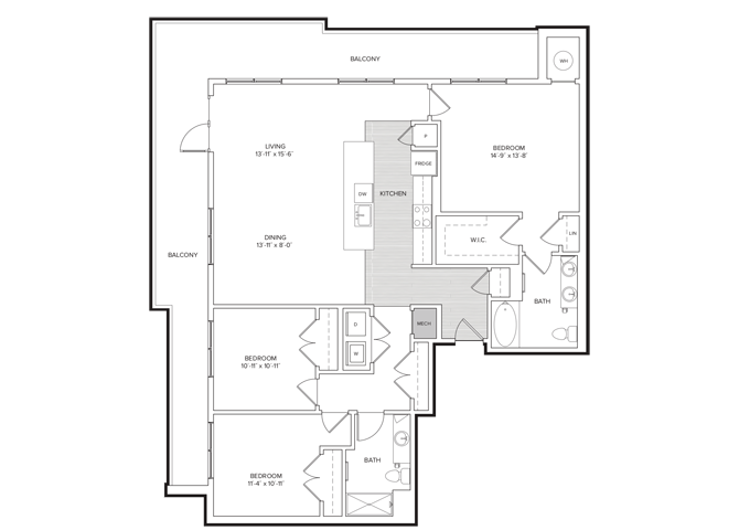 floor plan image of apartment 242