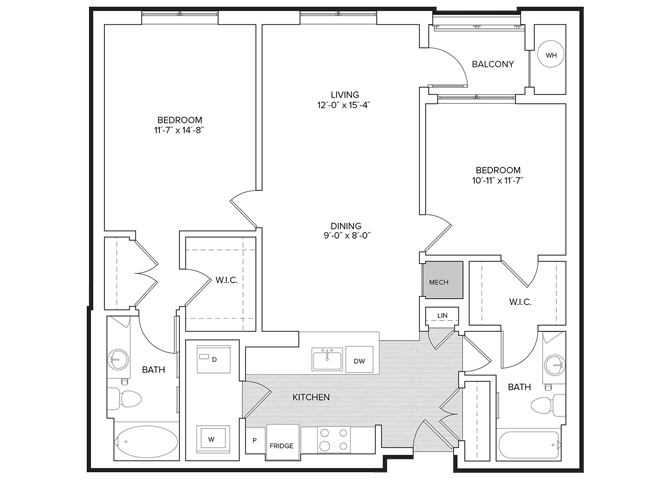 floor plan image of apartment 326