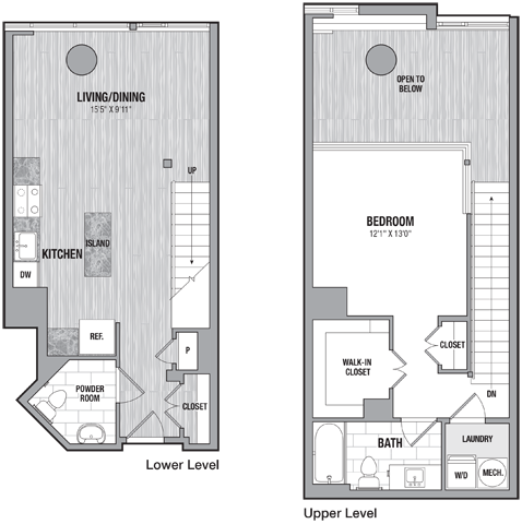 1 bed1.5 bath th b