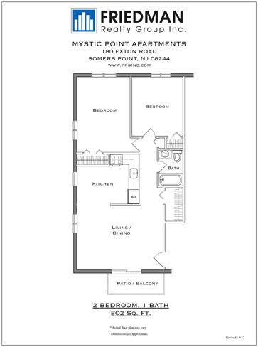 2 Bedroom - Corner