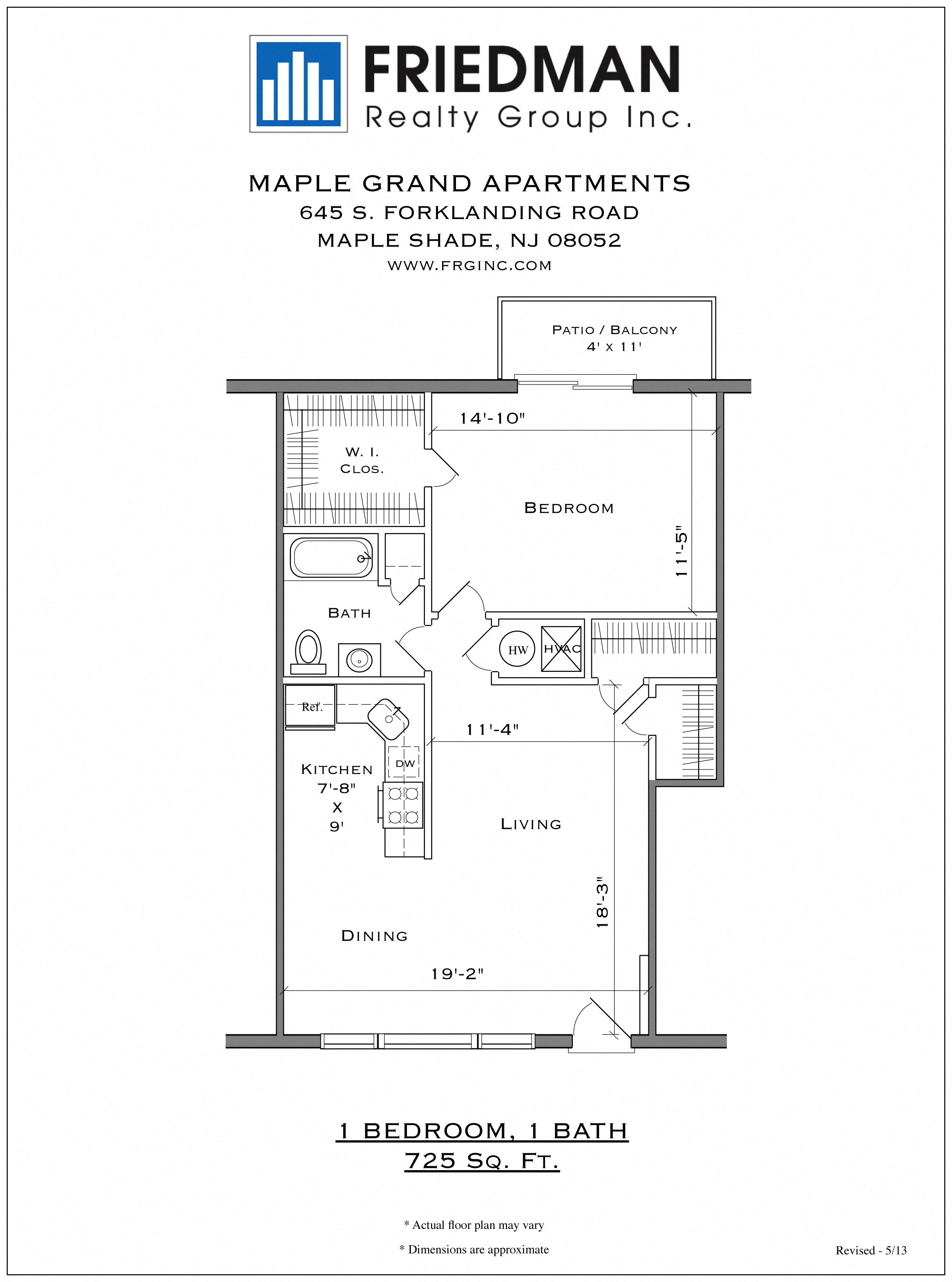 Apartments Near Cherry Hill Maple Grand Apartments Floor Plans