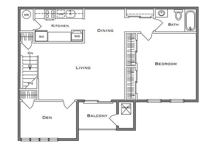 Dogwood - 1 Bedroom Den