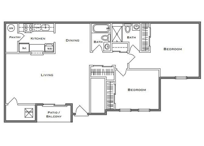 Redwood I - 2 Bedroom