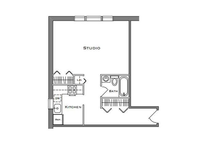 Studio 1 Bathroom Large
