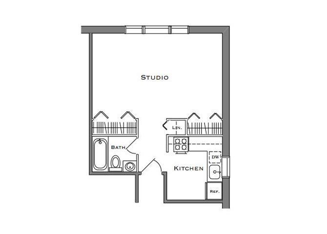 Studio 1 Bathroom Small