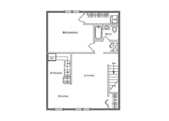 1 Bedroom Classic - Second Floor