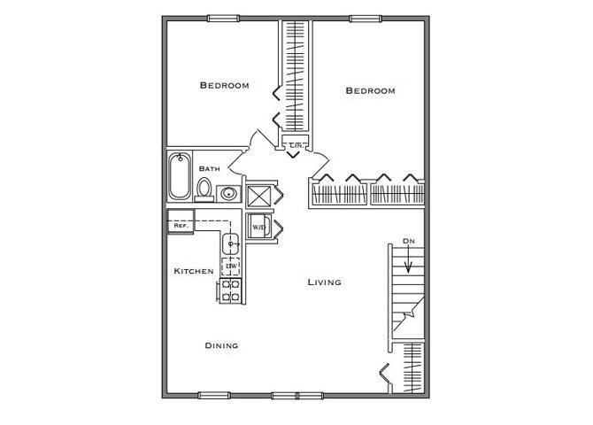 2 Bedroom Classic - First Floor