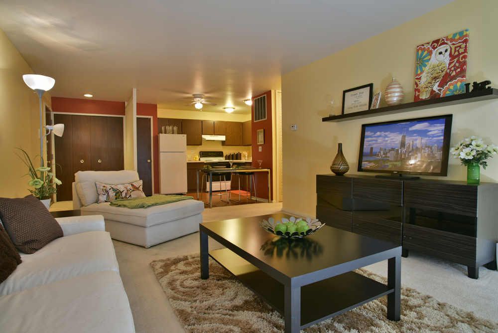 Spacious Living Room in the Crescent Style at Grand Bend Club