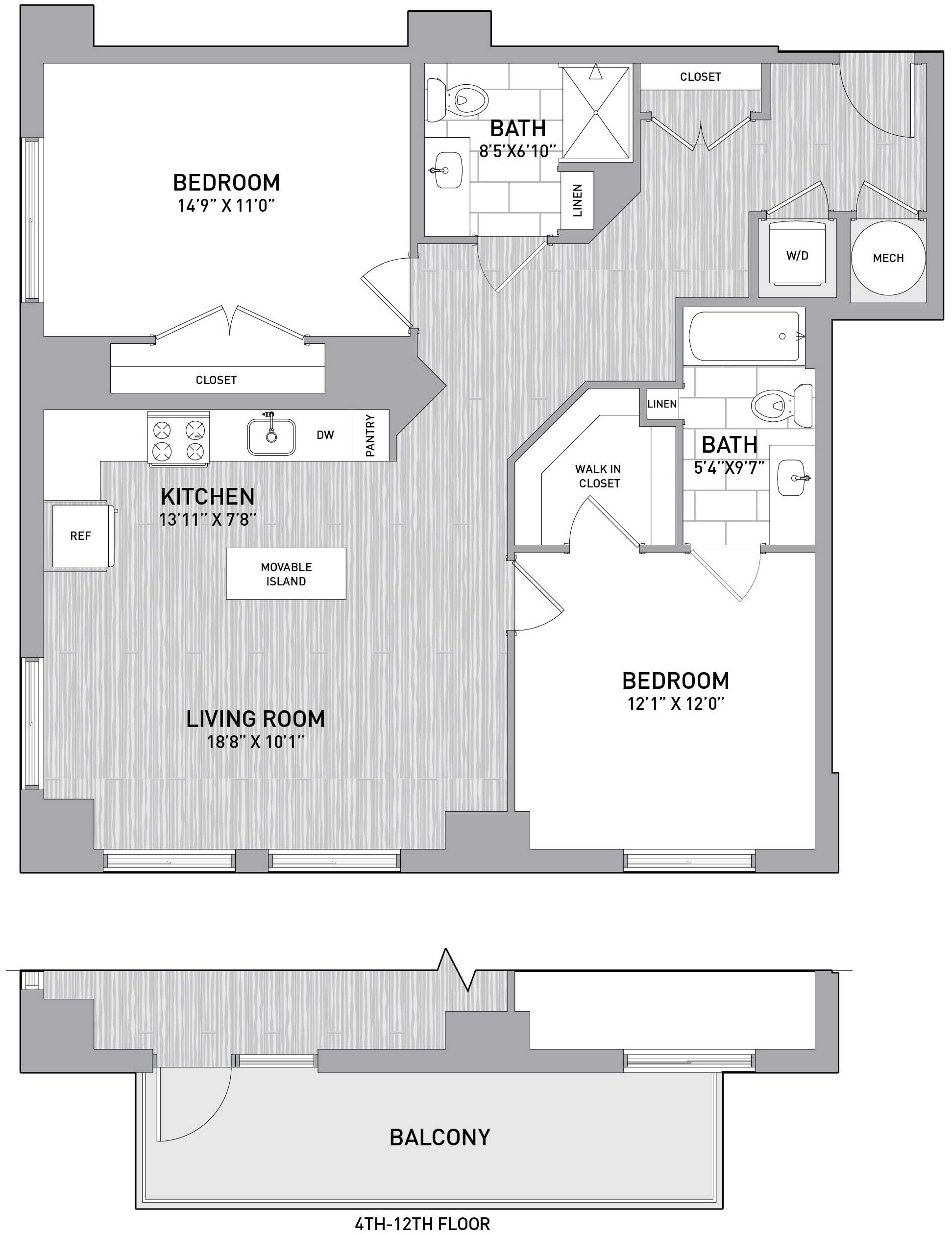 Floorplan Image of unit 151-0806