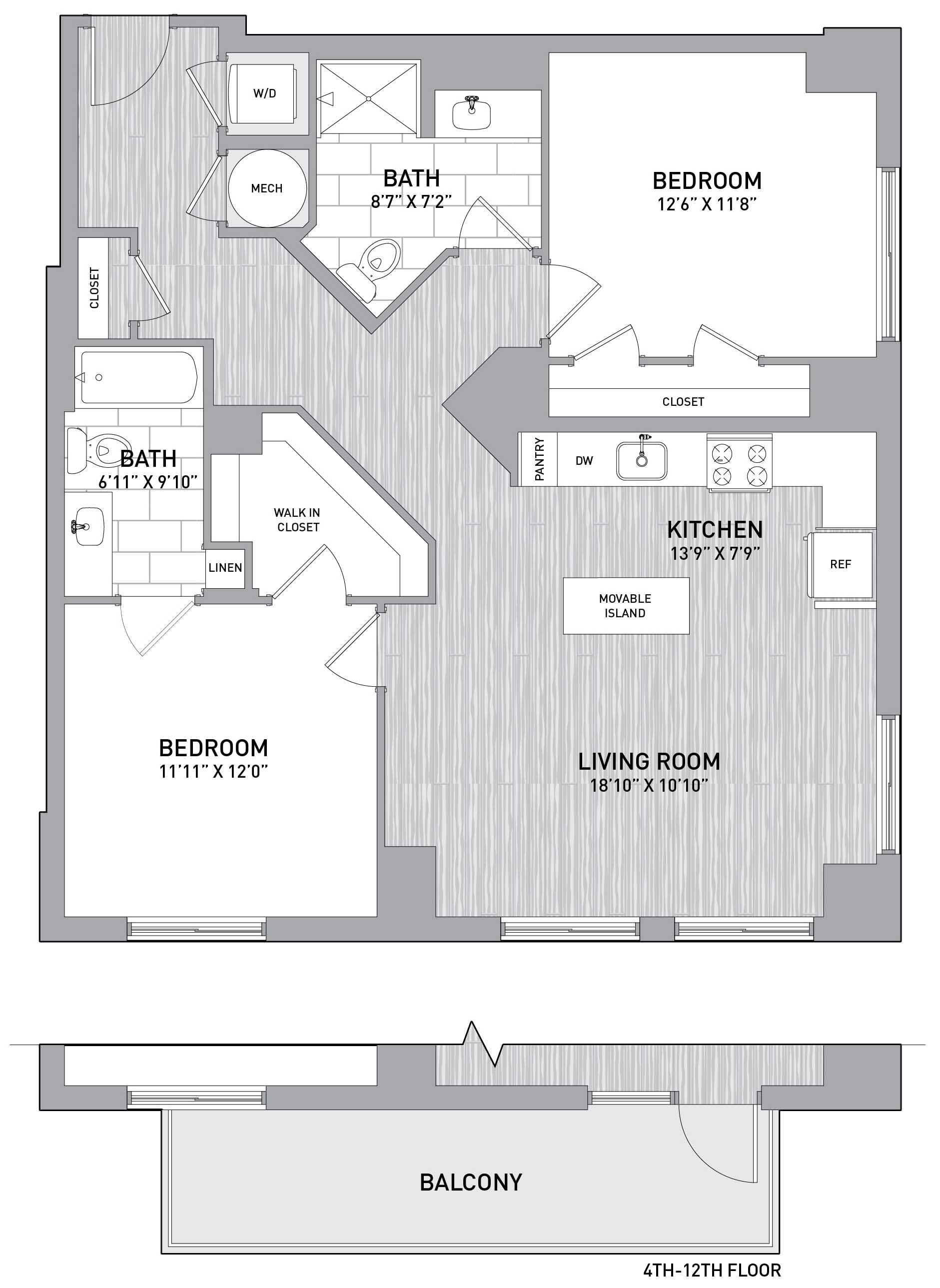 Floorplan Image of unit 151-0411