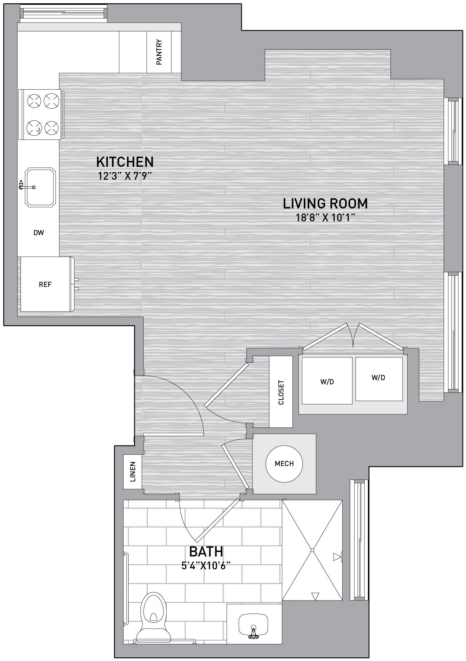 Floorplan Image of unit 151-1201