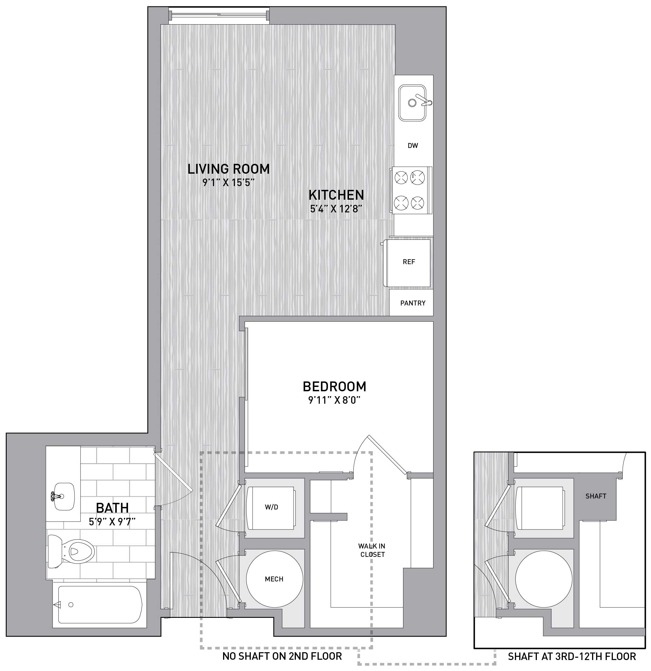 Floorplan Image of unit 151-0916