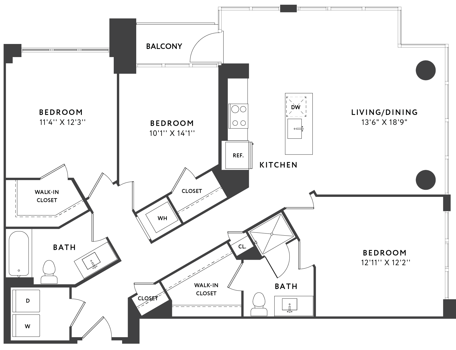 3 Bedroom  602 plan