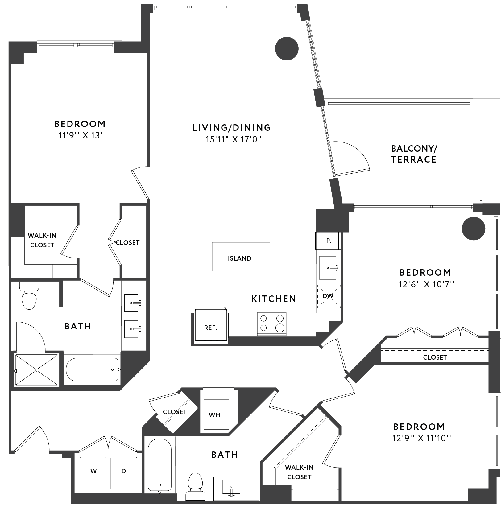 3 Bedroom  346 plan