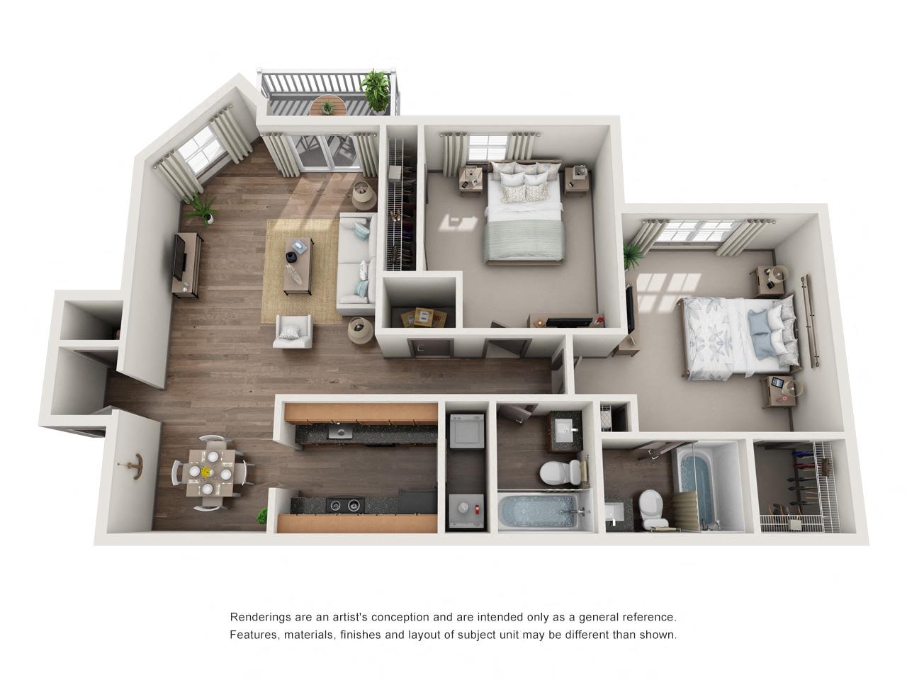 1250 West Apartments B2