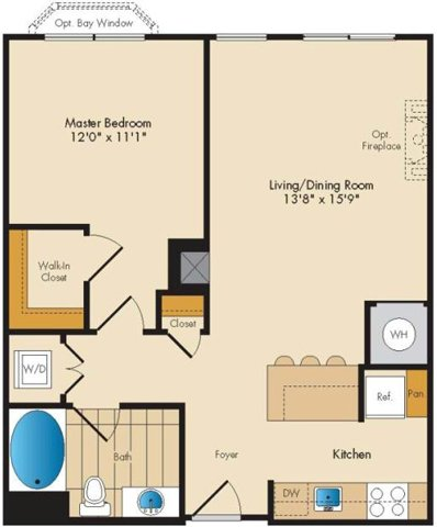 Vtp 1 bed 1 bath 791sqft a1