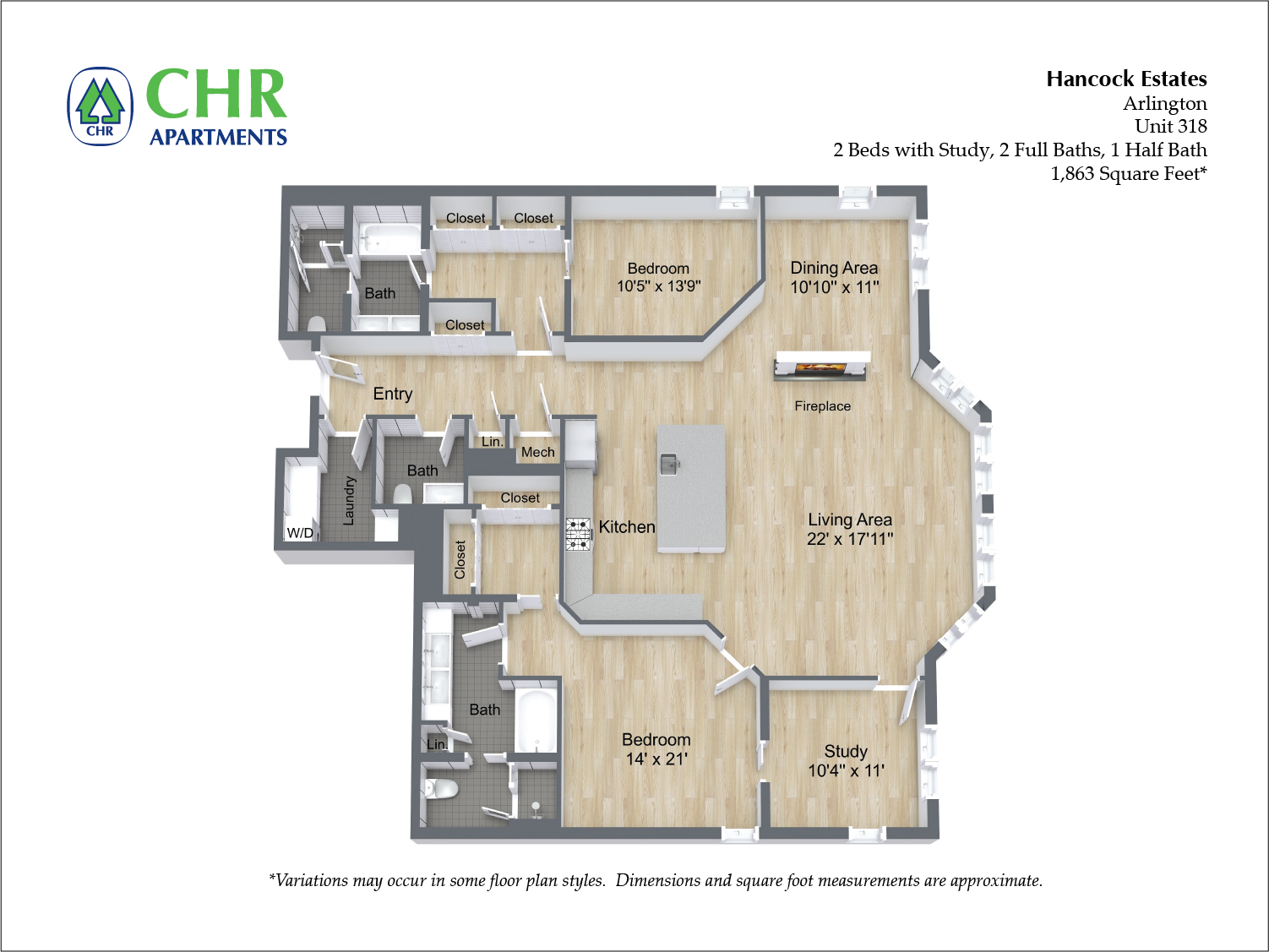 Click to view Floor plan 2 BR 2.5 BA image 18