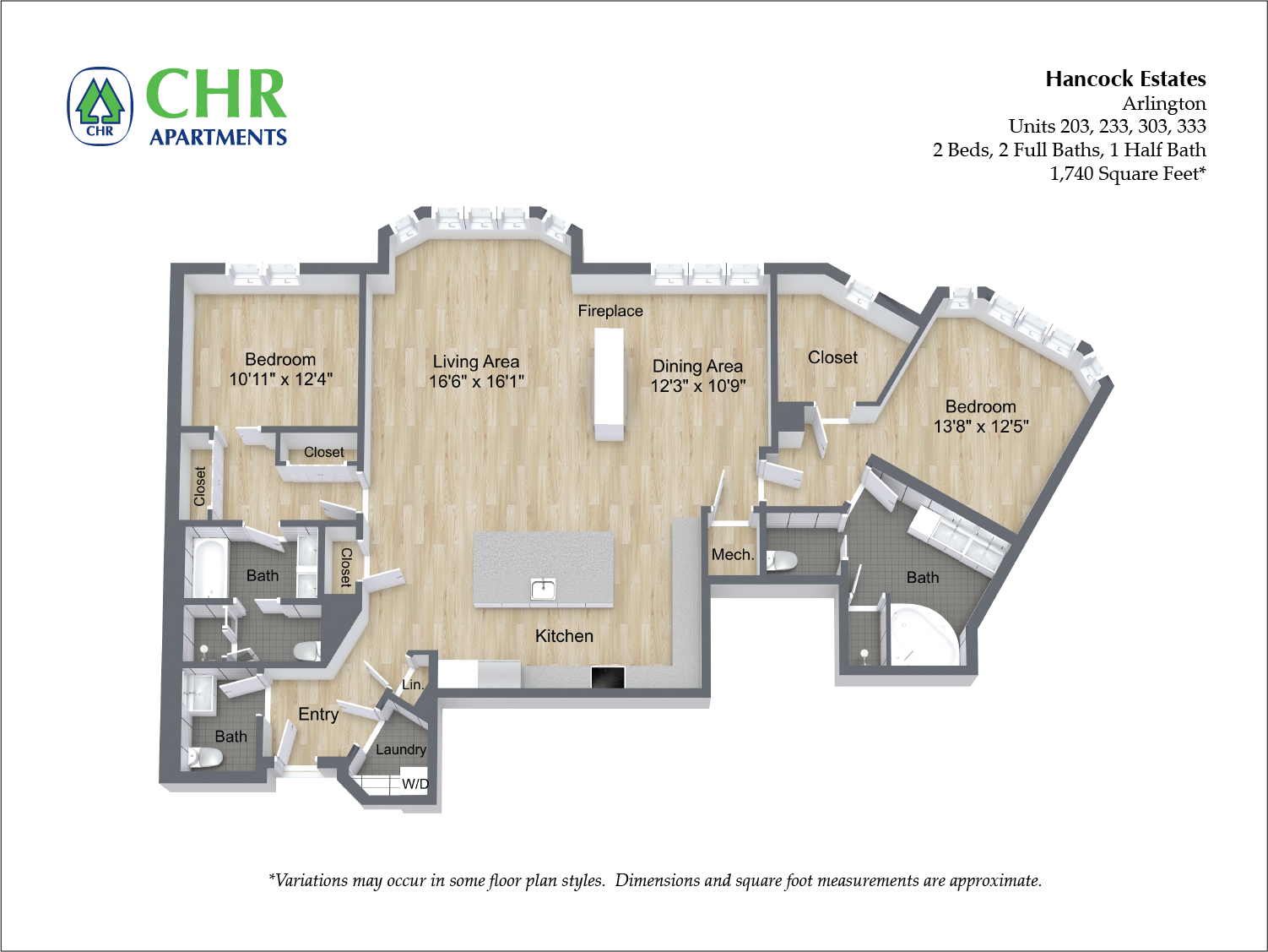 Click to view Floor plan 2 BR 2.5 BA image 12