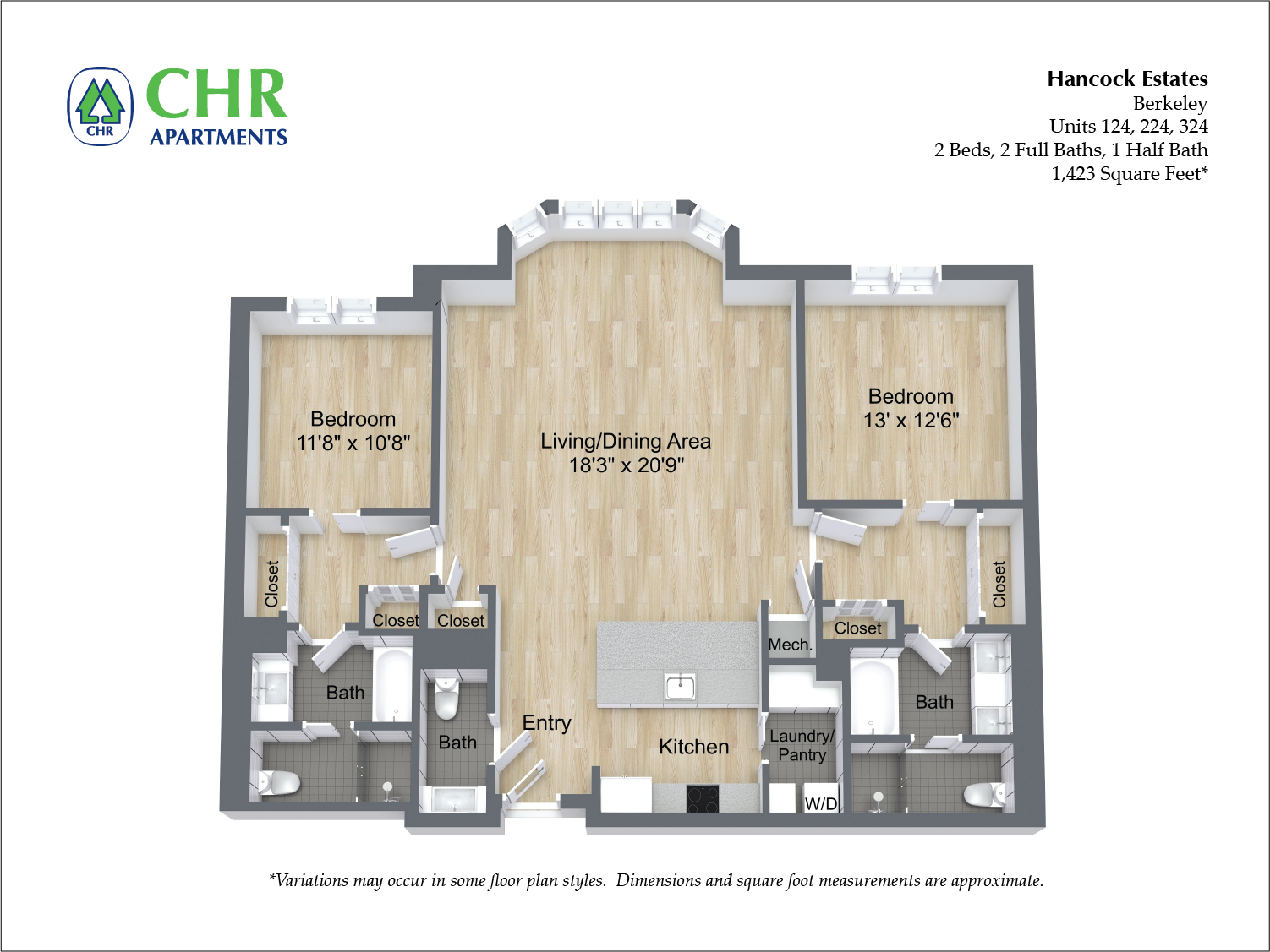Click to view Floor plan 2 BR 2.5 BA image 15