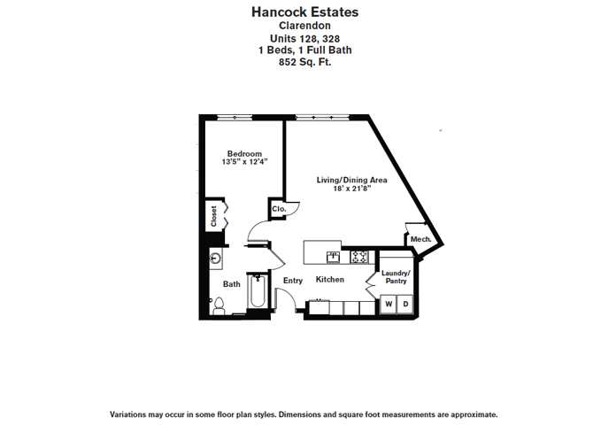 Click to view Floor plan 1 BR 1 BA image 2