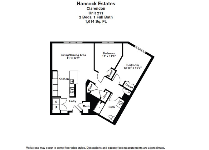 Click to view Floor plan 2 BR 1 BA image 2