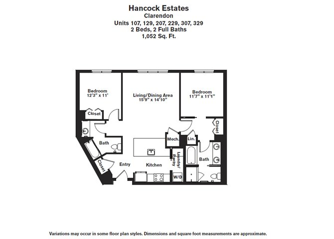 Click to view Floor plan 2 BR 2 BA image 4