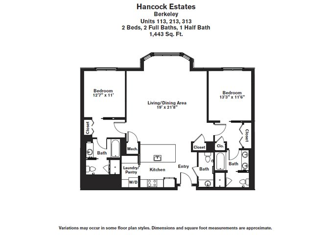 Click to view Floor plan 2 BR 2.5 BA image 5