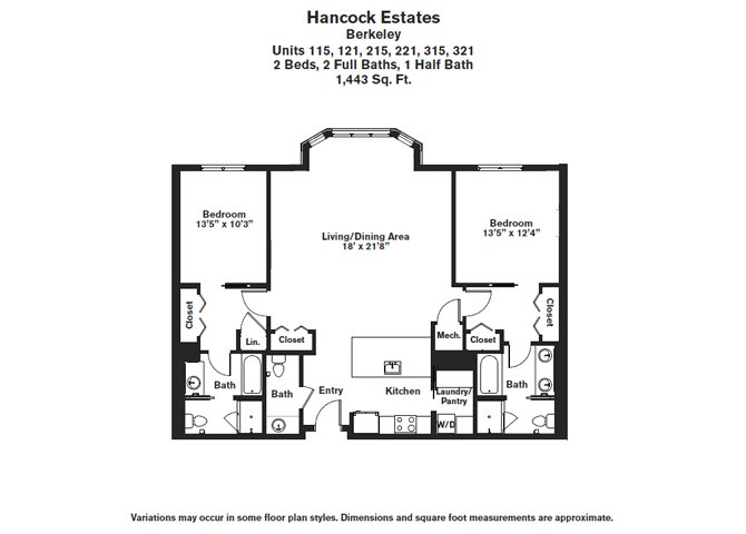 Click to view Floor plan 2 BR 2.5 BA image 4