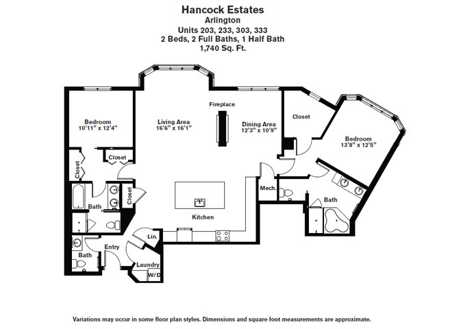 Click to view Floor plan 2 BR 2.5 BA image 6