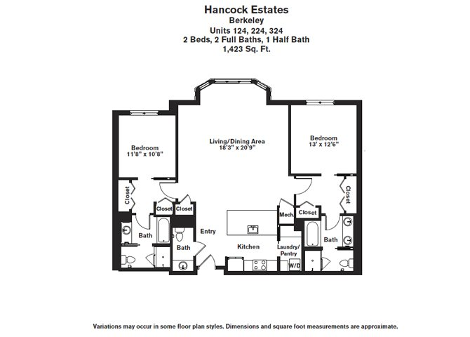 Click to view Floor plan 2 BR 2.5 BA image 9