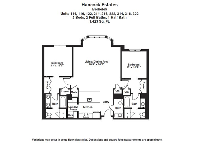 Click to view Floor plan 2 BR 2.5 BA image 8