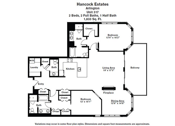 Click to view Floor plan 2 BR 2.5 BA image 10
