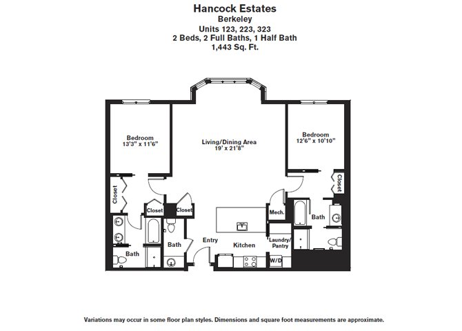 Click to view Floor plan 2 BR 2.5 BA image 3