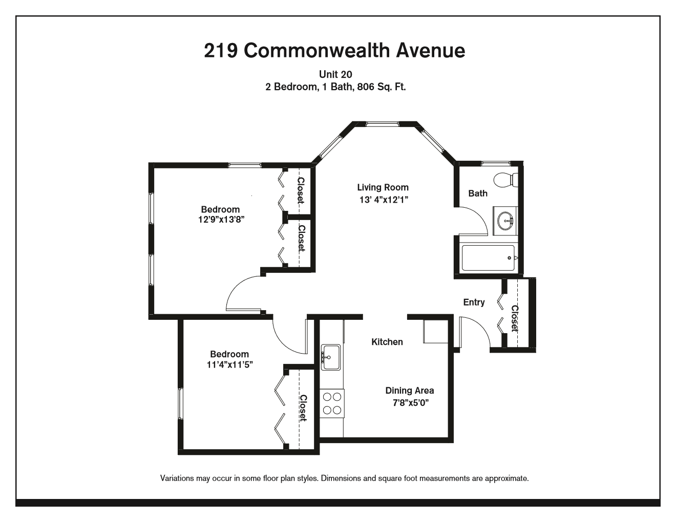 Click to view Two Bedroom floor plan gallery