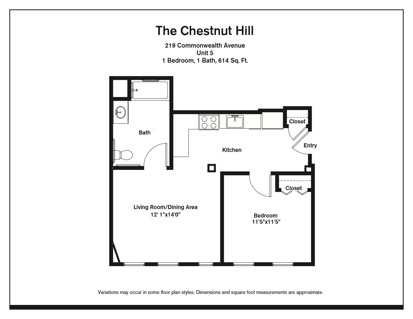 Click to view One Bedroom floor plan gallery