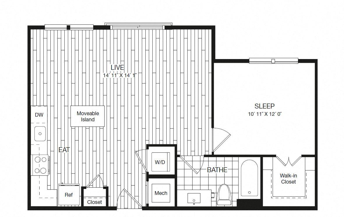 Apartment 27-226 floorplan