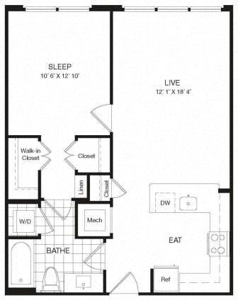 Apartment 29-302 floorplan